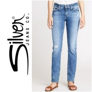 SILVER Elyse midrise straight jeans